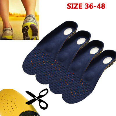 Orthotic Shoe Insoles Inserts  Plantar Fasciitis Arch Support Flat Foot Gel Pad • 5.99£