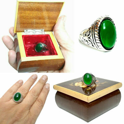 £35.49 • Buy Vintage. Silver Plated Men Ring With A Small Jewelry Box Size 13 Very Beautiful