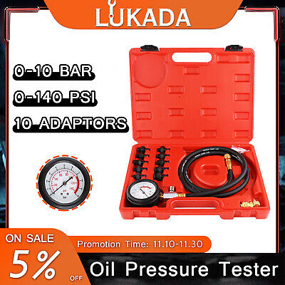 AU38.99 • Buy 12pcs Engine Oil Pressure Test Tool Kit Tester Gauge Diagnostic Tools Automotive