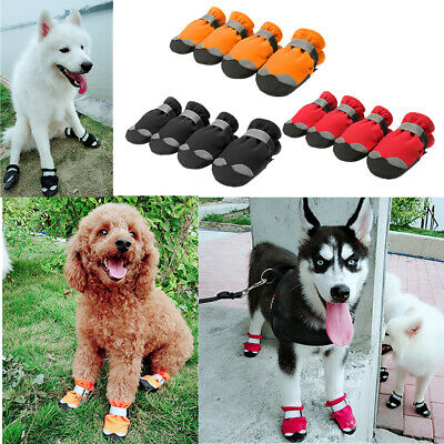 Dog Shoes Dog Snow Boots Rain Boots Waterproof Anti-Slip Dogs Boots 12 Pack • 15.99£