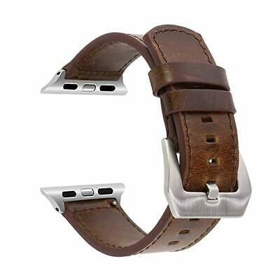 Genuine Leather Watch Wrist Band Brief Strap For Apple Watch Series 1 2 3 42MM • 12.99£