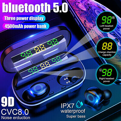 AU30.99 • Buy 4000mAh Bluetooth 5.0 Earphones Headphones TWS LED Wireless Stereo IPX7 Earbuds