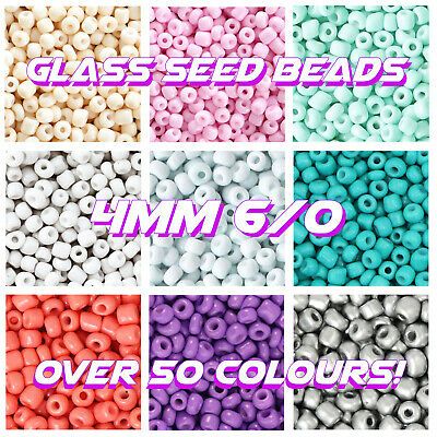 £2.19 • Buy Rainbow💛🧡❤️️💚💙6/0 Glass Seed Beads 4mm Rocailles 20g Bag Jewellery 1st Class