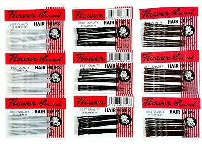 36 Kirby Hair Grips Waved Bobby Pins Clips Slides Buns Black, White Or Brown  • 1.60£