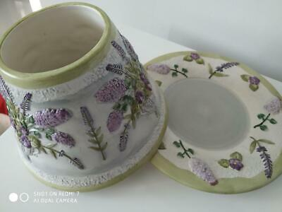 Yankee Candle 'lilac & Lavender' Large Plate & Shade Set  - Perfect • 25£