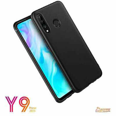 AU4.59 • Buy Black TPU Gel Jelly Rubber Soft Skin Case Cover For Huawei Y9 Prime 2019