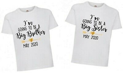 Im Going To Be A Big Brother/Sister Girl Boy Tshirt Free P&P • 5.99£
