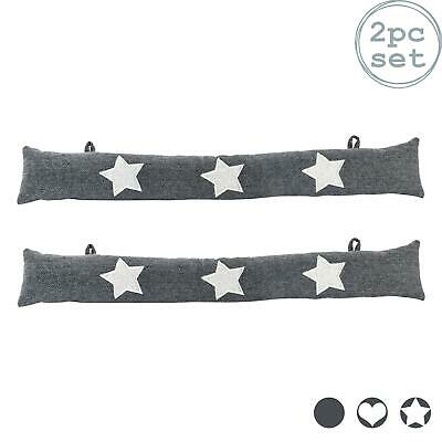 Draught Excluder Cushion Fabric Hallway Door Draft Insulator Home Star X2 • 16.99£