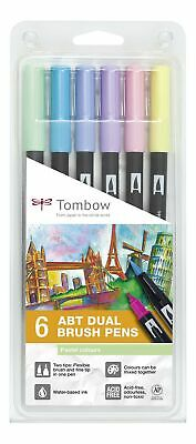 Tombow ABT Dual Brush Pen - Pastel (Pack Of 6) • 28.99£
