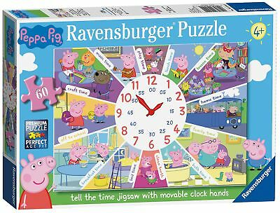 £25.99 • Buy Ravensburger Peppa Pig - Tell The Time Clock Puzzle, 60pc Jigsaw Puzzle