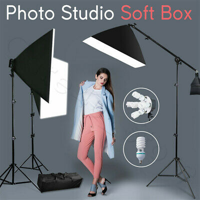 3425W Photography Studio 5 Head Softbox Continuous Lighting Boom Arm Stand Kit • 82.94£