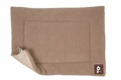 Yap Cossii Cage And Carrier Mat, Beige Faux Lambswool, 18 X 24 Inch • 25.99£