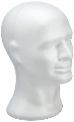 £27.99 • Buy RAYHER Polystyrene Mannequin Head Stand, Male, White, 30.5 Cm Masculine