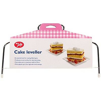 £16.99 • Buy Tala Cake Leveller Pink Up To 6cm Thick Slices Up To 30cm