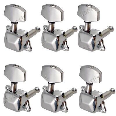 $ CDN10.09 • Buy 6Pcs 6R Semiclosed Guitar String Tuners Tuning Pegs For Acoustic Guitar Chrome