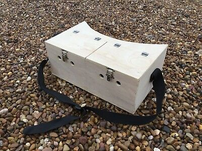 Large Double Bow Back Ferret Carry Box 2 Compartment Ferreting Rabbiting Hunting • 35£