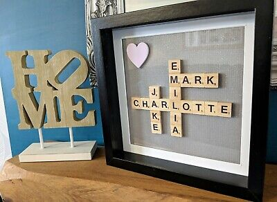 Scrabble Personalised Picture Frame - Sparkly Silver • 21.49£