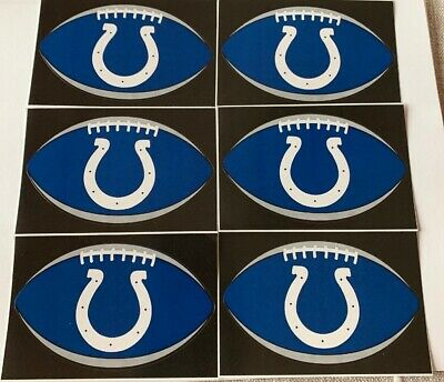 $2.50 • Buy NFL Indianapolis Colts Lot Of 6 Football Oval Indoor Decal Stickers