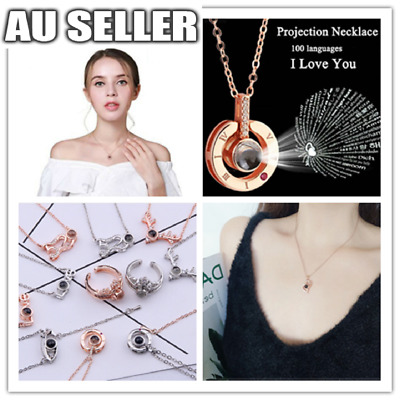 AU3.99 • Buy I LOVE YOU In 100 Language Pendant Necklace For Memory LOVE 9 Styles Lady Gift