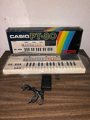 $80 • Buy Vintage Casio PT-80 Keyboard With Original Box And One Rom Pacs.