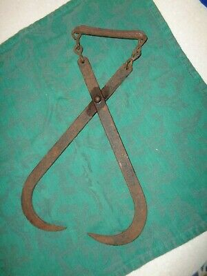 $15.59 • Buy VINTAGE Antique EARLY 1900's 13    ICE BLOCK TONGS Frozen