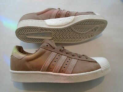 $ CDN104.33 • Buy New Adidas Superstar Boost Men's Size 9.5 Leather  Shoes BZ0205 Brown