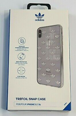AU19.67 • Buy Adidas Trefoils Logo Case For IPhone X / XS - Clear / Silver