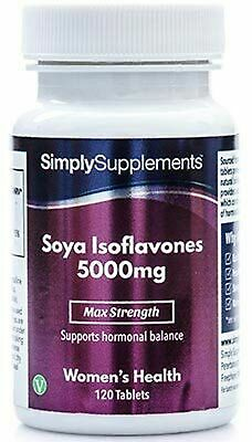 SOYA Isoflavones 5000mg | Now With Added Vitamin B6 For Hormonal Balance | Po... • 31.99£