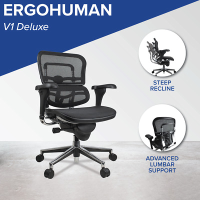AU757 • Buy Ergohuman V1 *NEW* Ergonomic Genuine Deluxe Office Chair Mesh Executive + Arms