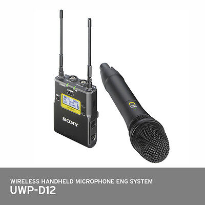 SONY UWP-D12 Integrated Wireless Microphone Package Handheld Transmitter System • 464.88£