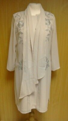 W72D Condice Set Pink Dress And Jacket Wedding Outfit Size 12  • 18£