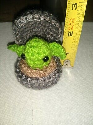 $18.50 • Buy Handmade Crochet Baby Yoda The Child  Inspired Ornament Display Piece