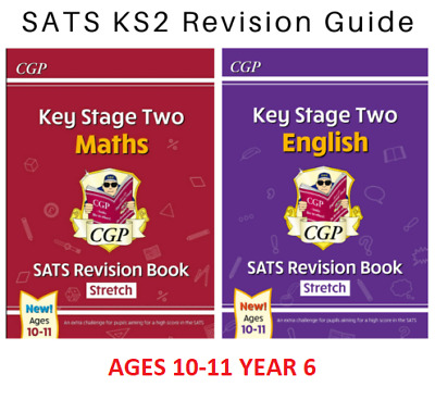 £11.68 • Buy New Ks2 Year 6 Ages 10-11 Sats English & Maths Stretch Revision Guides Cgp Books