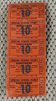 $12 • Buy Set Of 5 Vintage 1977 Kennywood Special School Tickets