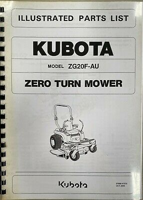 AU25 • Buy Parts Manual, Kubota Zero-turn Mower ZG20F-AU