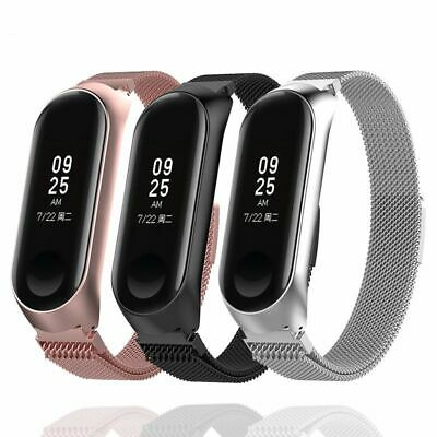$8.98 • Buy Stainless Steel Wristbands Metal Straps Band Xiaomi Mi Bracelet 3 Fit Watchbands