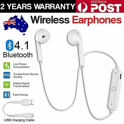 AU5.99 • Buy Sweatproof Wireless Bluetooth Earphones Headphones Sport Gym For IPhone Samsung