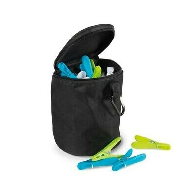 Kampa Camping Garden Clothes Line Peg Zip Holder Bag With Carabiner AC0502 • 2.99£