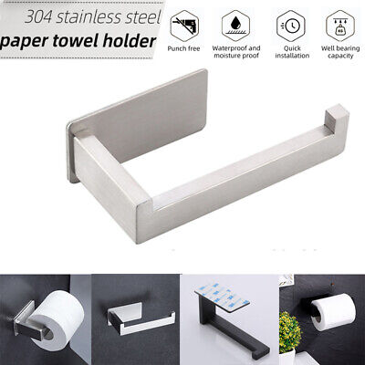 AU13.99 • Buy Toilet Roll Holder Self-Adhesive Toilet Paper Holder Bathroom Stick On Wall Home