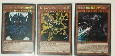 AU23.50 • Buy Yugioh - Egyptian God Cards Set - Prismatic Secret Rare - TN19-EN007, 008, 009