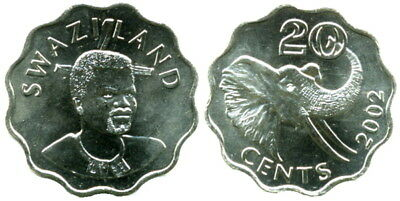$3.86 • Buy Swaziland: 4-piece Uncirculated Coin Set:  5 To 50 Cents