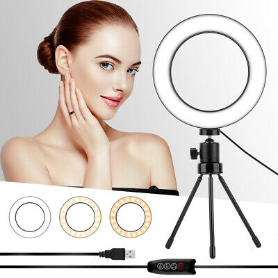 AU19.99 • Buy 12  LED Ring Light Dimmable Lighting Kit Phone Selfie Tripod Makeup Youtube Live