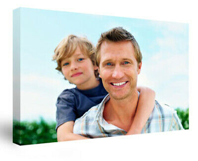 Your Personalised Photo On Canvas Print 12  X 8  Framed A4 Ready To Hang • 6.99£