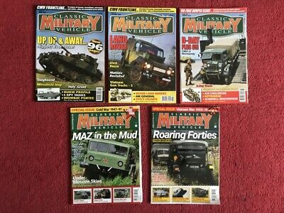 5 X Classic Military Vehicle Magazines - From 2007, '08, '09 And '17. • 8£