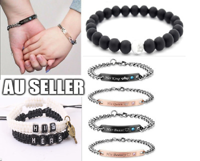 AU9.99 • Buy Valentines Gift For Him/Her/Boyfriend Girlfriend,Birthday Couple Lover Bracelet