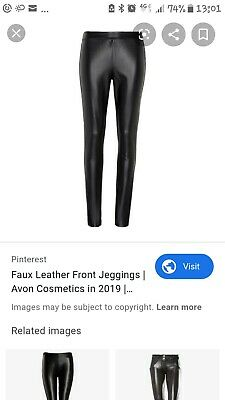 Faux Leather Front Ladies Jeggings BNIP • 12.99£
