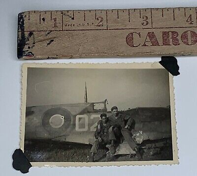 £21.47 • Buy Original WWII Photo Crashed British Fighter Plane Aircraft US Soldiers Posing