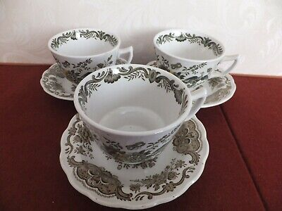 Ridgway Staffordshire Windsor  Cup And Saucer X 3 • 22.50£
