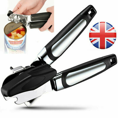£5.99 • Buy Heavy Duty Stainless Steel Tin Can Opener Cutter Easy Comfy Handle Grip Kitchen