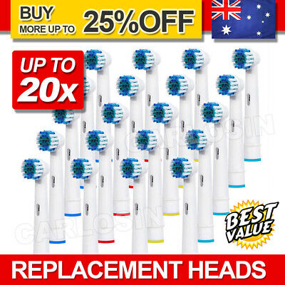 AU18.95 • Buy Electric Toothbrush Heads Oral B Compatible Replacement Brush Precision Clean